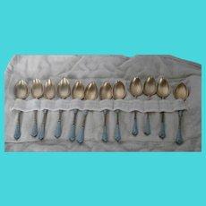 David Andersen Sterling Demitasse Spoon Set....