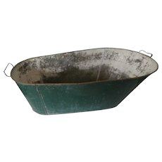 Early 20th Century Tin Bathtub for Baby....