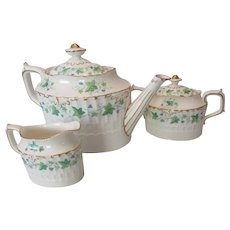 Royal Crown Derby Medway Tea Pot, Creamer, and Sugar..