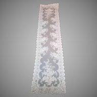 19th Century Blonde Silk Chantilly Lace Shawl...