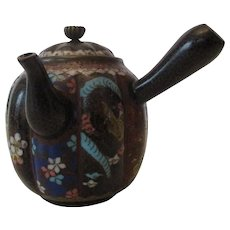 Early 20th Century Miniature Cloisonne' Teapot..