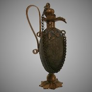 Late 19th Century Brass Chatelaine Perfume Container...