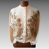 Vintage Cashmere Beaded Sweater...