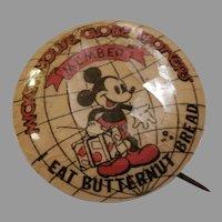 Early 30's Mickey Mouse Butternut Bread Promo...