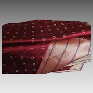 Antique wool and silk burgundy