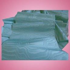 Antique silk aqua  tres rare