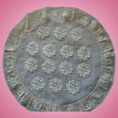 Antique embroiderie 19 eme