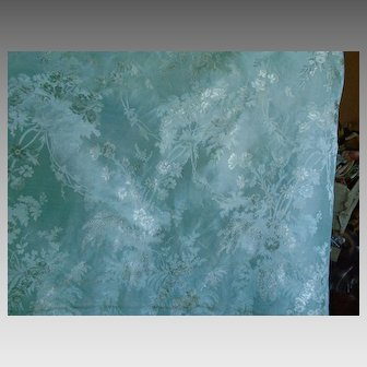 Antique taffeta  silk aqua victorienne