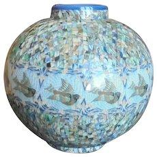 Tres rare antique large vase poterie gerbino vallauris