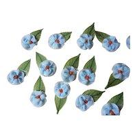 Antique deco flovers blue