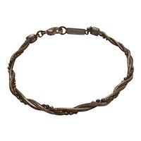 Vintage Napier Braided Silver Tone Bracelet