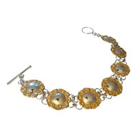Delicate Gold and Silver Tone Metal Bracelet