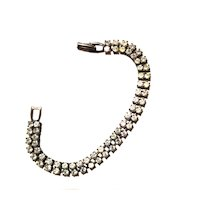 Vintage Double Strand Rhinestone Bracelet