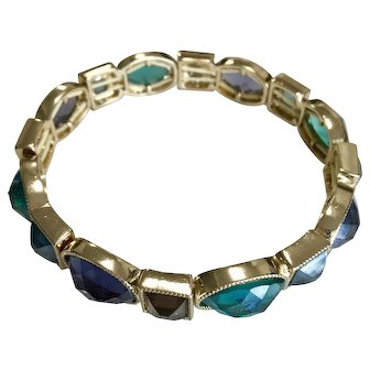 Vintage Bracelet Set with Colored Stones