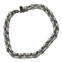 Vintage Silver Gold Link Bracelet by Sarah Coventry.