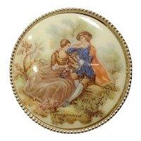 Vintage Victorian Style Fragonard Pin