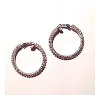Stunning Rhinestone Hoop Earrings
