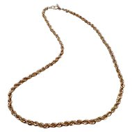 Braided Gold Tone Chain by Medici