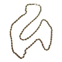 Vintage Gold Tone Rope Chain Necklace - 28.5 inches