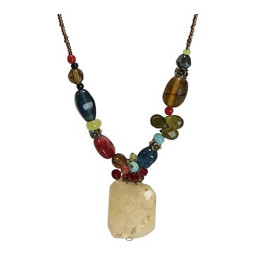 Colorful Beaded Necklace-Adjustable length