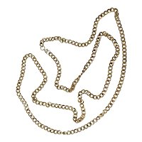 Long Gold Tone Chain Necklace