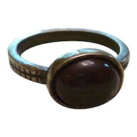 Vintage Ring with Brown Stone