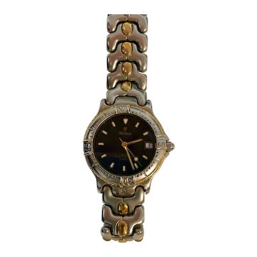 Ladies Mx Onda Diver Style Watch 100m, Full Stainless Steel and Gold Bracelet