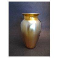 Gold Iridescent Durand Vase