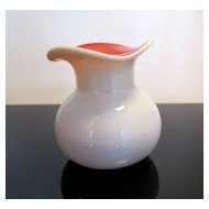 Vintage Pink and White Cased Glass Tulip Vase