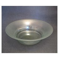 Large Pale Green Bowl with Iridescent Finish
