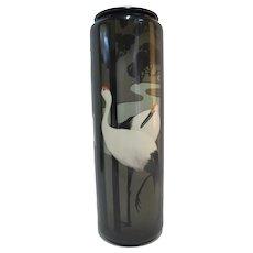 "Willets American BELLEEK Art Deco Japanese CRANES 16"" Tall Vase"