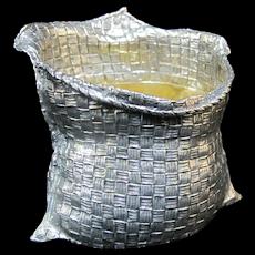 Mario BUCCELLATI Italian Sterling Silver & Gilt Sugar Basket Bag Bowl