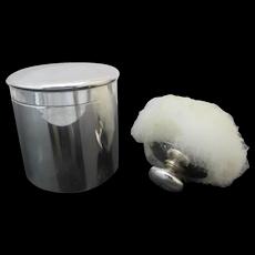 Vintage TIFFANY & Co Sterling Silver BABY Powder Jar with Original Puff