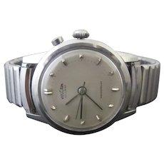 Vintage VULCAIN Cricket Swiss Stainless Steel Waterproof 34mm ALARM Watch 303006