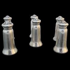 GORHAM A10028 Sterling Silver 6pc SALT & PEPPER Shaker Set