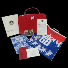 REPUBLICAN Richard NIXON Inaugural Program Campaign Pin Case & GOLDWATER Invite
