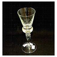King Gustav III Crystal Stemware White Wine Glass Set Reproduced by Hovmantorp Glasbruk