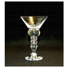 King Gustav III Crystal Stemware Martini Glass Set, 11 Pieces