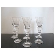 King Gustav III Crystal Stemware Cordial Glass Set Reproduced by Hovmantorp Glasbruk