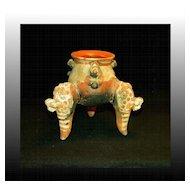 Mesoamerican 3-Legged Pot
