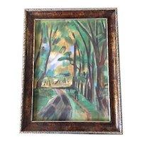 RAOUL DUFY Original 1924 Fauvist Paris Landscape WATERCOLOR Painting