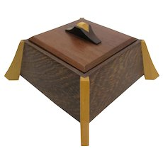 Mid-Century Modern Styled Vintage Larry Dern Wenge & Hardwood Chinoiserie Jewelry Box