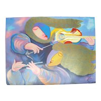 LUNZEN Signed Limited Edition Silkscreen MUSICAL TASTE Unframed Art