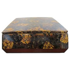 Lacquer Tortoise Shell Design Japanese Vintage Box with Lid