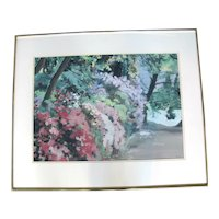 Spring at Crystal Springs Original Framed Impressionist Painting by Oregon Artist Sidonie Caron