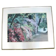 Spring at Crystal Springs Original Framed Impressionist Painting by Oregon Artist Sidonie Caron
