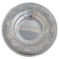 Sterling Silver Gorham 1027 Bowl w/Floral & Scroll Design S Monogram