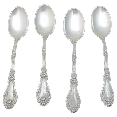 Antique 1905-08 DURGIN Marechal Neil Sterling Silver Youth Spoon 4pc Set RUTH