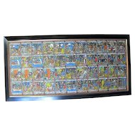 Ethiopian STORY of Solomon & Sheba Bible Story Board Large Colorful Original Oil Painting