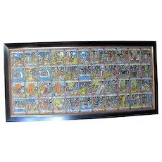 Ethiopian STORY of Solomon & Sheba Bible Story Board Large Colorful Original Oil Painting